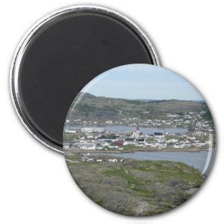 Fishing Village 2 Inch Round Magnet