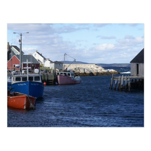 Fishing Village at Peggy's Cove Postcard