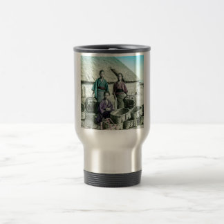 Fishing Village in Old Japan Vintage Japanese Travel Mug