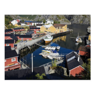 Fishing village Nusfjord. The Rorbuer, as the Postcard