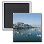 Fishing Village of Ferragudo, Algarve, Portugal 2 2 Inch Square Magnet