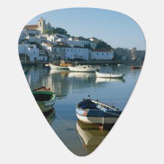 Fishing Village of Ferragudo, Algarve, Portugal Guitar Pick
