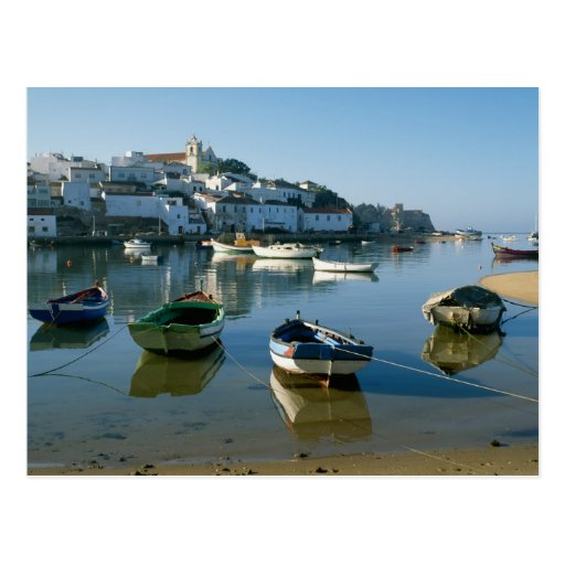 Fishing Village of Ferragudo, Algarve, Portugal Post Card