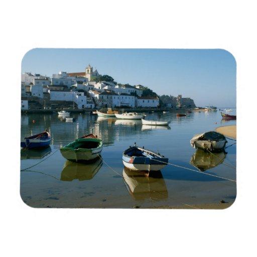 Fishing Village of Ferragudo, Algarve, Portugal Flexible Magnet