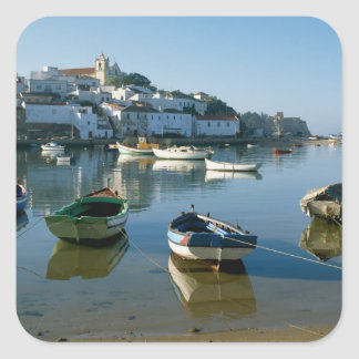 Fishing Village of Ferragudo, Algarve, Portugal Square Sticker