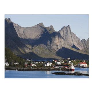 Fishing village Reine Moskenesoy island Post Card