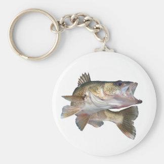 Fishing Walleye Keychain