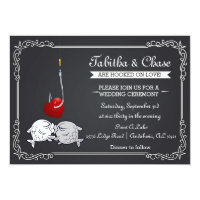 Fishing Wedding Invitation - Kissing Fish