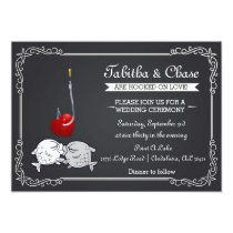 Fishing Wedding Invitation - Kissing Fish
