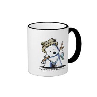 Fishing Westie Mug Ringer Mug
