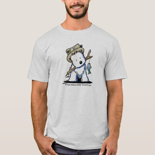 Fishing Westie T-Shirt