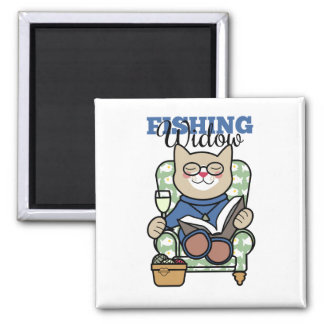 Fishing Widow Humor Magnet