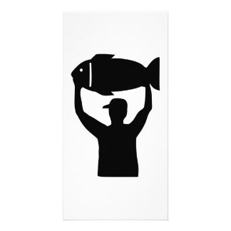 Fishing winner photo card template