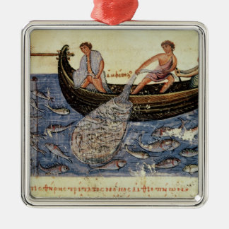 Fishing with a Net Metal Ornament