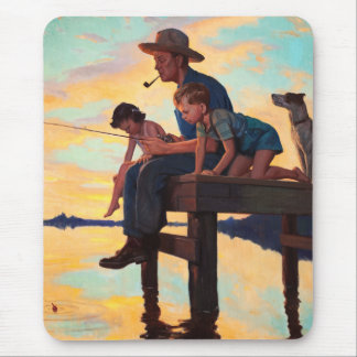 Fishing with Dad. Father's Day Gift Mousepads
