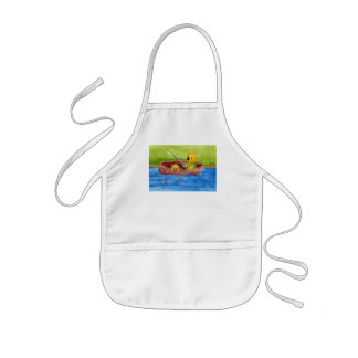 Fishing With Dad Kids Apron