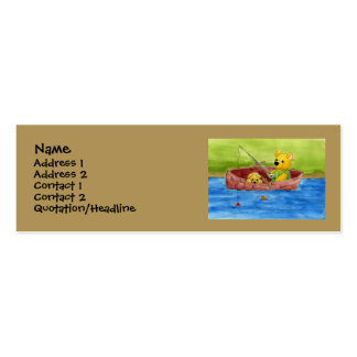 Fishing WIth Dad Profile Card Double-Sided Mini Business Cards (Pack Of 20)