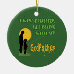 Fishing With Godfather Christmas Tree Ornaments