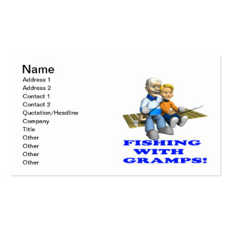 Fishing With Gramps Business Card Templates