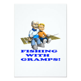 Fishing With Gramps Invite
