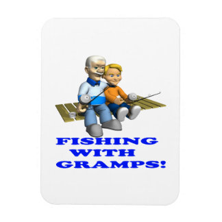 Fishing With Gramps Magnet