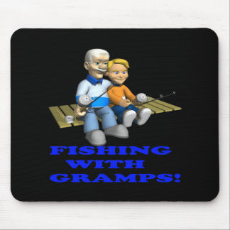 Fishing With Gramps Mouse Pad