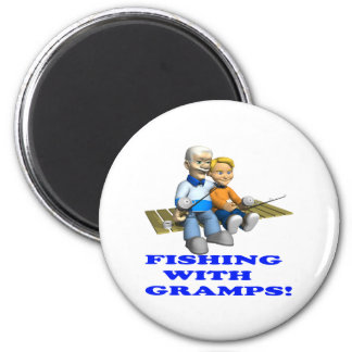 Fishing With Gramps Refrigerator Magnets