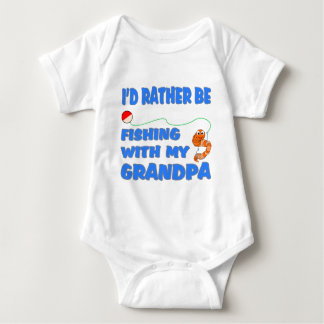 Fishing With Grandpa (Blue) Baby Bodysuit