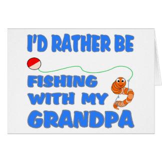 Fishing With Grandpa (Blue) Greeting Card