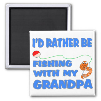 Fishing With Grandpa (Blue) Magnets