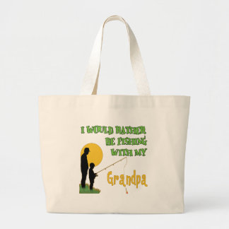 Fishing With Grandpa copy Canvas Bags
