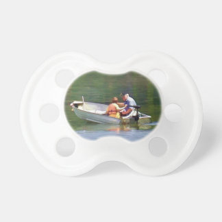 Fishing With Grandpa digital watercolor simulation Pacifier