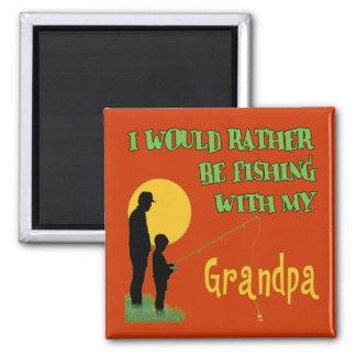 Fishing With Grandpa Fridge Magnet