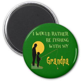 Fishing With Grandpa Fridge Magnets