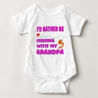 Fishing  With Grandpa (in Pink) Baby Bodysuit