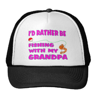 Fishing  With Grandpa (in Pink) Hats