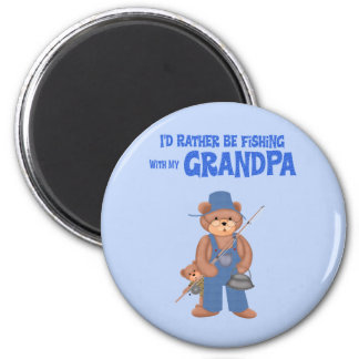 Fishing with Grandpa Magnets