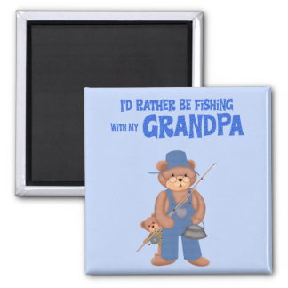 Fishing with Grandpa Refrigerator Magnet