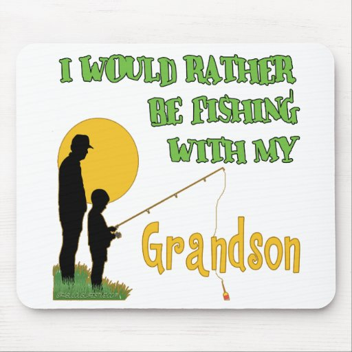 Fishing With Grandson Mouse Pads