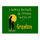 Fishing With Grandson Postcards