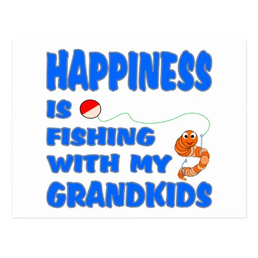 Fishing With My Grandkids Postcards