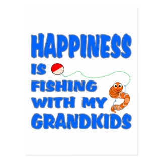 Fishing With My Grandkids Postcard