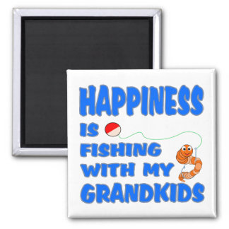Fishing With My Grandkids Refrigerator Magnets