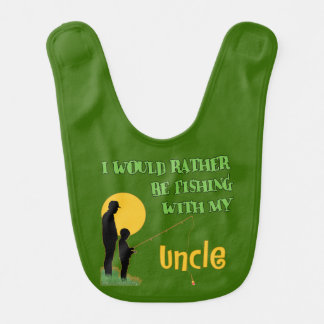 Fishing With My Uncle Gifts Bib