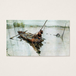 Fishing with Nets 1905 Business Card