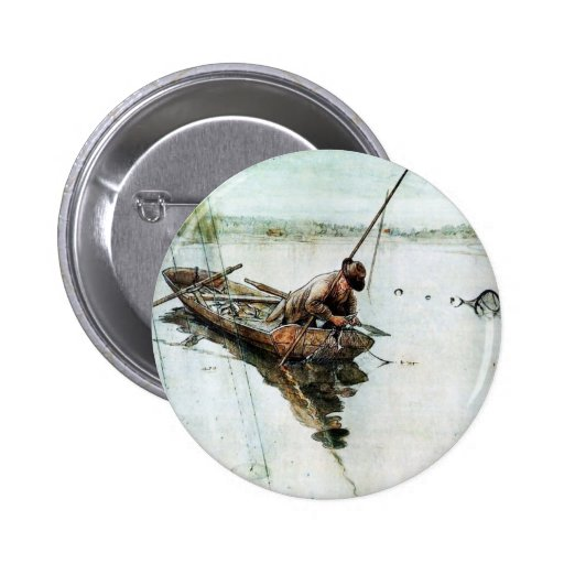 Fishing with Nets 1905 Button