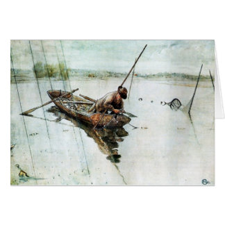 Fishing with Nets 1905 Greeting Cards