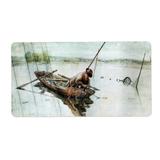 Fishing with Nets 1905 Shipping Label