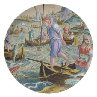 Fishing with Nets and Tridents in the Bay of Naple Plates