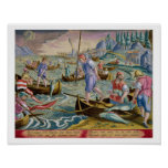 Fishing with Nets and Tridents in the Bay of Naple Poster